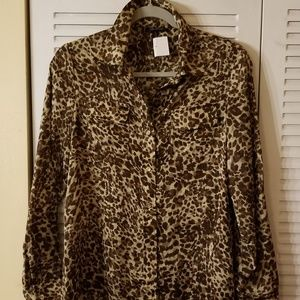 Anne Klein animal print shirt